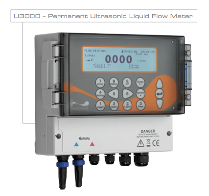Ultrasonic Clamp On Flow Meter U3000/4000